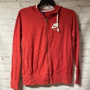 Nike zip up hooded sweater size medium